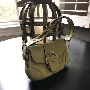 Lime green Coach purse